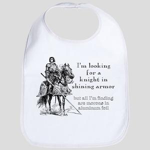 Knight In Shining Armor Funny T-Shirt Bib