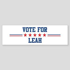 Vote for LEAH Bumper Sticker