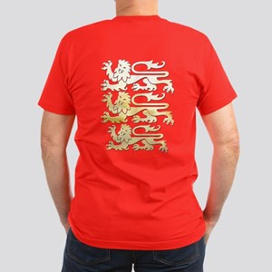 The Crest Of England Men's Fitted T-Shirt (dar