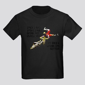 Sticks And Stones Dirt Bike Motocross T-Shirt Kids