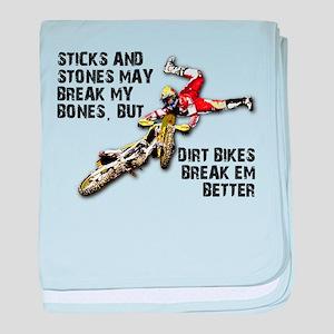 Sticks And Stones Dirt Bike Motocross T-Shirt baby