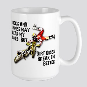 Sticks And Stones Dirt Bike Motocross T-Shirt Larg