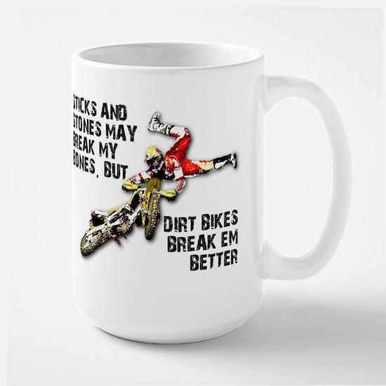 Sticks And Stones Dirt Bike Motocross T-Shirt Larg