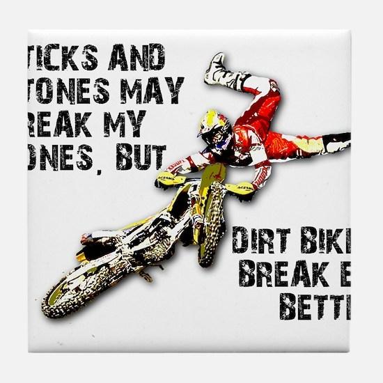 Sticks And Stones Dirt Bike Motocross T-Shirt Tile