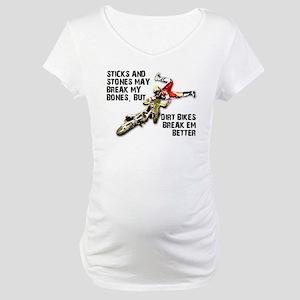 Sticks And Stones Dirt Bike Motocross T-Shirt Mate
