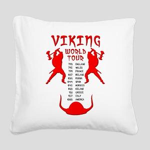 Viking World Tour Funny Norse T-Shirt Square Canva