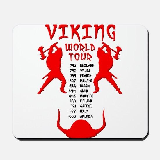 Viking World Tour Funny Norse T-Shirt Mousepad