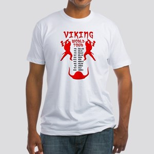 Viking World Tour Funny Norse T-Shirt Fitted T-Shi