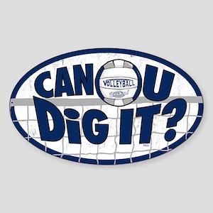 Dig It Dark Blue Sticker (Oval)