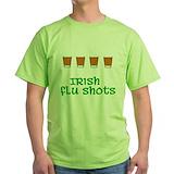 Irish flu shot Green T-Shirt
