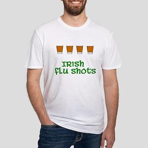 Irish Flu Shots Fitted T-Shirt