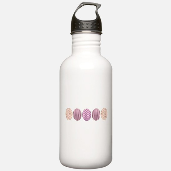 Purple Easter Eggs Water Bottle