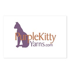 Purple Kitty Postcards (Package of 8)