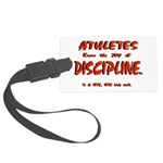 Joy in Discipline. Large Luggage Tag