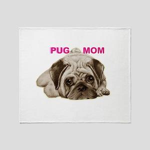 pug mom Throw Blanket