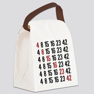 Lost Numbers Square Canvas Lunch Bag