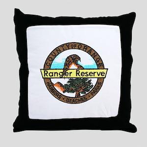 Orange Ranger Reserve Throw Pillow