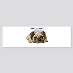 pug dad Sticker (Bumper)