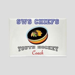 SWS Hockey Rectangle Magnet