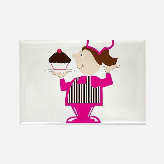 Born Cupcake Baker Rectangle Magnet