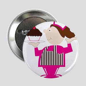 """Born Cupcake Baker 2.25"""" Button"""