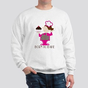 Born Cupcake Baker Sweatshirt