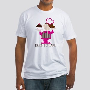 Born Cupcake Baker Fitted T-Shirt