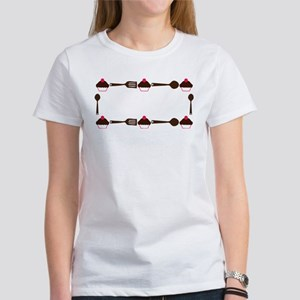 Cupcake Utensil Frame Women's T-Shirt