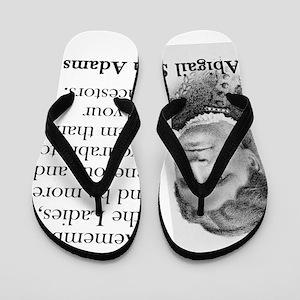 d6a3f5f7d610 Remember The Ladies - Abigail Adams Flip Flops