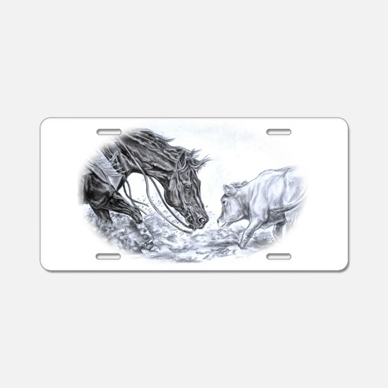 Cute Equestrian Aluminum License Plate