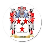 Ashfield Round Car Magnet