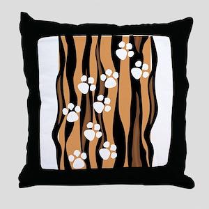 Lion Paw Print Throw Pillow