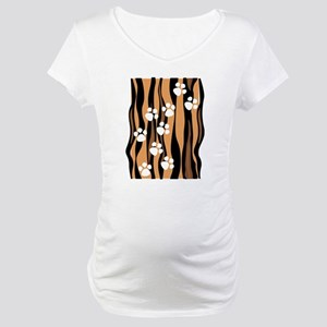 Lion Paw Print Maternity T-Shirt