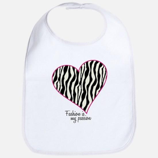 Zebra Fashion Passion Bib