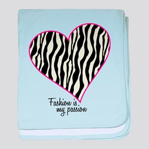 Zebra Fashion Passion baby blanket