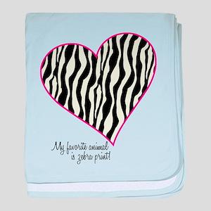 Zebra Print Heart baby blanket