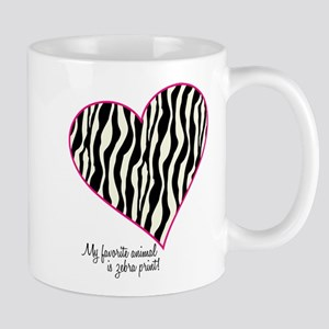 Zebra Print Heart Mug