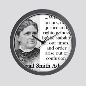 Whatever Occurs - Abigail Adams Wall Clock