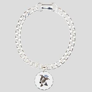 Italian Greyhound dad Charm Bracelet, One Charm
