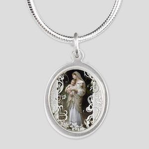 Innocence Silver Oval Necklace