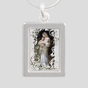 Innocence Silver Portrait Necklace
