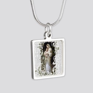 Innocence Silver Square Necklace