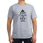 Keep Calm and Ride On Men's Fitted T-Shirt (dark)