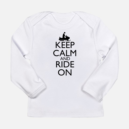 Keep Calm and Ride On Long Sleeve Infant T-Shirt