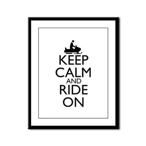 Keep Calm and Ride On Framed Panel Print
