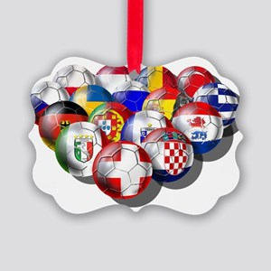 Europe Soccer Picture Ornament