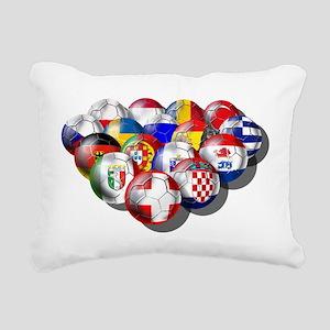 Europe Soccer Rectangular Canvas Pillow