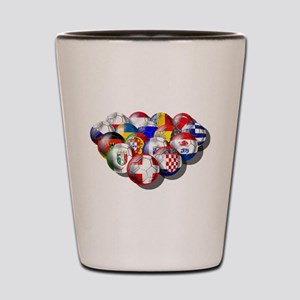 Europe Soccer Shot Glass