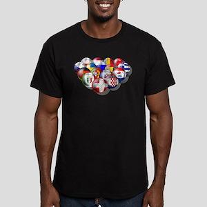 Europe Soccer Men's Fitted T-Shirt (dark)