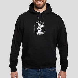White Schnauzer IAAM Logo Hoodie (dark)